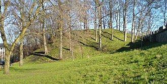 Norman conquest of England - The remains of Baile Hill, the second motte-and-bailey castle built by William in York