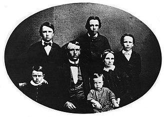 Edward Bailey - Edward Bailey and family, 1854.