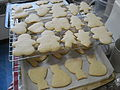 Baked sugar cookies on tray and wire rack.jpg