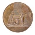 Baksida av Konstakademiens medalj med bild av konstnärsredskap samt text - Skoklosters slott - 99255.tif