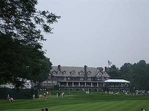 National Register of Historic Places listings in Union County, New Jersey - Image: Baltusrol Golf Club during PGA Championship