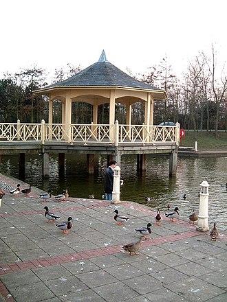 Watermead, Buckinghamshire - Bandstand with ducks