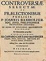 Banholzer, Johann Controversiae selectae, Dillingen 1682.jpg