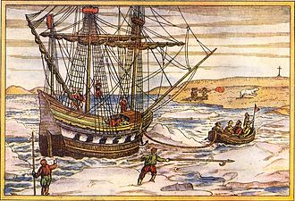 Willem Barentsz - Willem Barentsz' ship among the Arctic ice