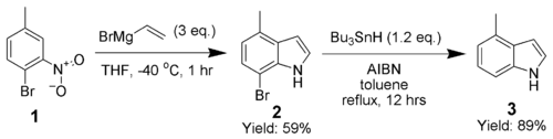 The Dobbs modification of the Bartoli indole synthesis