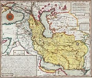 Eastern Arabia - Region of Bahrain part of the Iran on a 1729  Ibrahim Muteferrika map.
