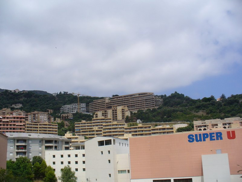 Bastia - Super U under the hills