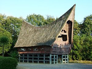 Rumah adat - A traditional Batak Toba house in North Sumatra