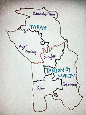 Batang Padang District - Map of Batang Padang.