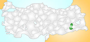 Batman Turkey Provinces locator