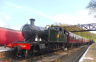 Battlefield Line Railway - A busy scene from the 2014 Spring Steam Gala at Shackerstone Station