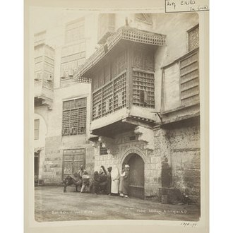 Bayt Al-Razzaz palace - Entrance to Bayt al-Razzaz, Cairo, photograph by Gabriel Lekegian, late 19th century