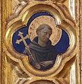 Beato angelico, pala strozzi della deposizione, con cuspidi e predella di lorenzo monaco, pilastrino sx 08.JPG