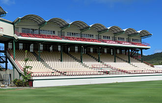 Darren Sammy Cricket Ground - Main stand.