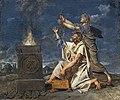 Beaux-Arts de Carcassonne - Un jeune guerrier accompagné de son père demande aux dieux le succès de ses armes - Jean-Germain Drouais - Joconde04400001289.jpg