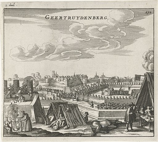 Beleg van Geertruidenberg, 1593 Geertruydenberg (titel op object), RP-P-OB-80.144