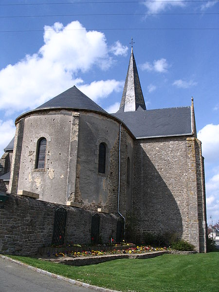 The church of Bournouvel, in Belgeard, Mayenne, France.