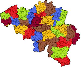 Arrondissements of Belgium - Judicial arrondissements of Belgium