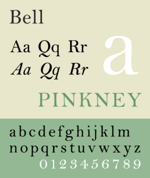 Bell (typeface) - Image: Bell MT