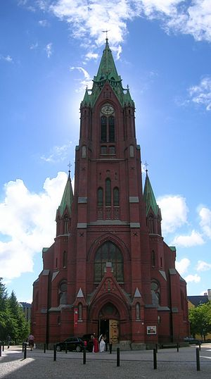 Religion in Europe - The St John's Church, Bergen is a Lutheran church in Norway