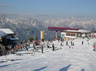 Leogang - Image: Bergstation Asitzbahn Leogang (Winter)