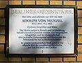 Berlin-Kreuzberg Ritterstraße Genktafel Adolph von Menzel.jpg
