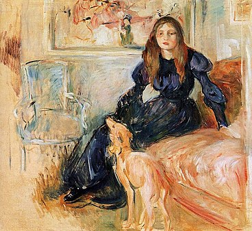 https://upload.wikimedia.org/wikipedia/commons/thumb/7/77/Berthe_Morisot_-_Girl_with_Greyhound_-_1893.jpg/368px-Berthe_Morisot_-_Girl_with_Greyhound_-_1893.jpg