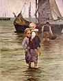 Berthold Genzmer - Zwei Mädchen mit Fischerboot.jpg