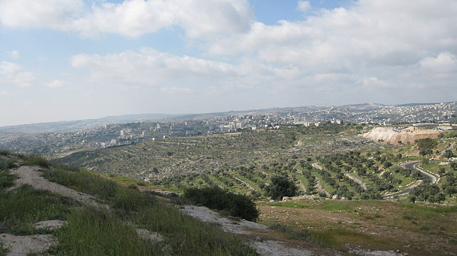 Views from Givat HaArbaa, near Hebron road, Jerusalem by Deror avi