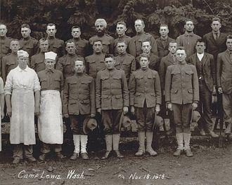 Taragarh Talawa - Bhagat Singh Thind with his battalion at Camp Lewis, Washington on November 18, 1918.
