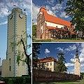 Bierutów - ratusz, kościół św. katarzyny, zamek.jpg