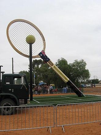 Barellan - Image: Big Tennis Racquet Barellan 2009 10 03