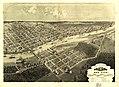 Bird's eye view of Bay City, Portsmouth, Wenona & Salzburg, Bay Co., Michigan 1867. LOC 73693424.jpg