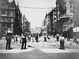 Birger Jarlsgatan - Birger Jarlsgatan under construction in 1898.