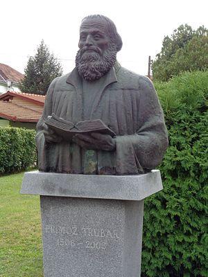 Primož Trubar - Primož Trubar bust in Lendava