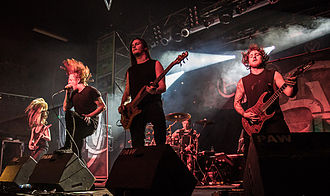 Bleed from Within - Image: Bleed from Within Rockfabrik Nuernberg Band 1