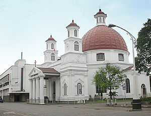 Protestantism in Indonesia - Blenduk Church in Semarang, built in European architecture