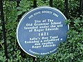 Blue plaque at entrance to council building - geograph.org.uk - 958465.jpg