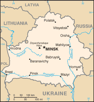Geography of Belarus - Image: Bo map
