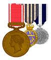 Board of Trade Medal for Gallantry in Saving Life at Sea en twee medailles.jpg