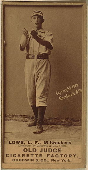 Bobby Lowe - Lowe with the Milwaukee Brewers in 1888.