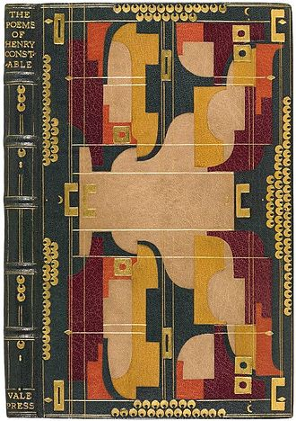Henry Constable - An 1897 edition of The Poems of Henry Constable in Art Deco binding
