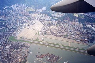 Kai Tak Airport closed international airport in Hong Kong