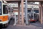 Boeing and Breda cars at Geneva carhouse, May 1997.jpg