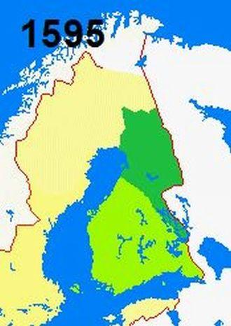 Treaty of Teusina - Border changes of 1595.
