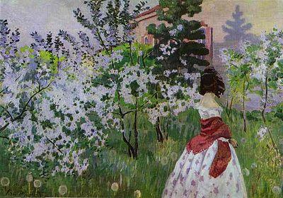 Обои вишневый сад
