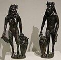 Bottega del riccio, satiro e satiressa con urne, padova 1510-20 ca..JPG