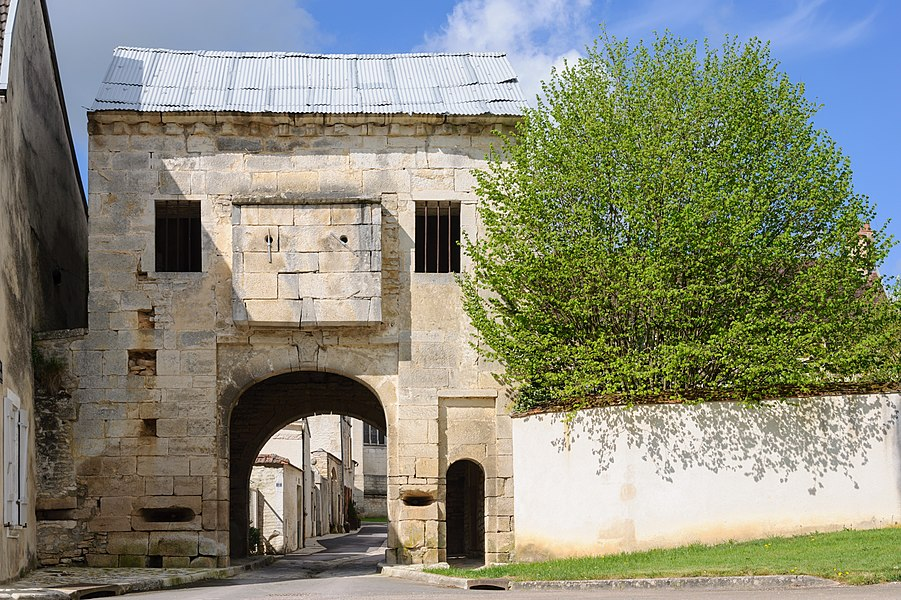 The fortified gate (16th-century) of Nuits (Burgundy, France).