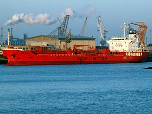 Bow Rio - IMO 9309629 at the Botlek Harbour, Port of Rotterdam, Holland 14-Jan-2006.jpg