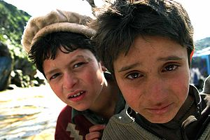 Young boys from northern Pakistan in 2007.